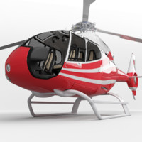 helicopter eurocopter 3d max