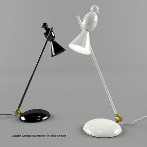 aloutte lamps bird shape max