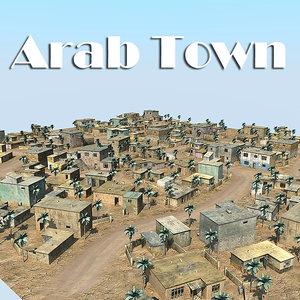 3d model houses props palm