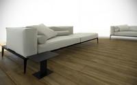 walter knoll designer sofa 3d model