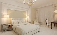 3d bedroom modern master model