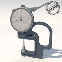 dial thickness gauges 3d model
