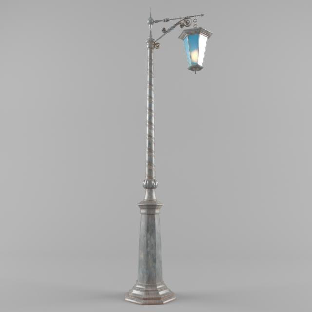 3d old streetlight model
