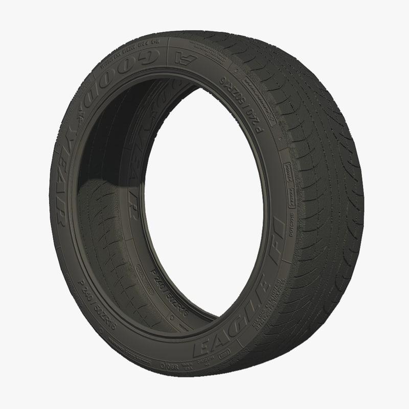 wheel tire tread 3d model