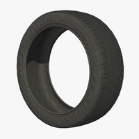 wheel tire tread 3d model