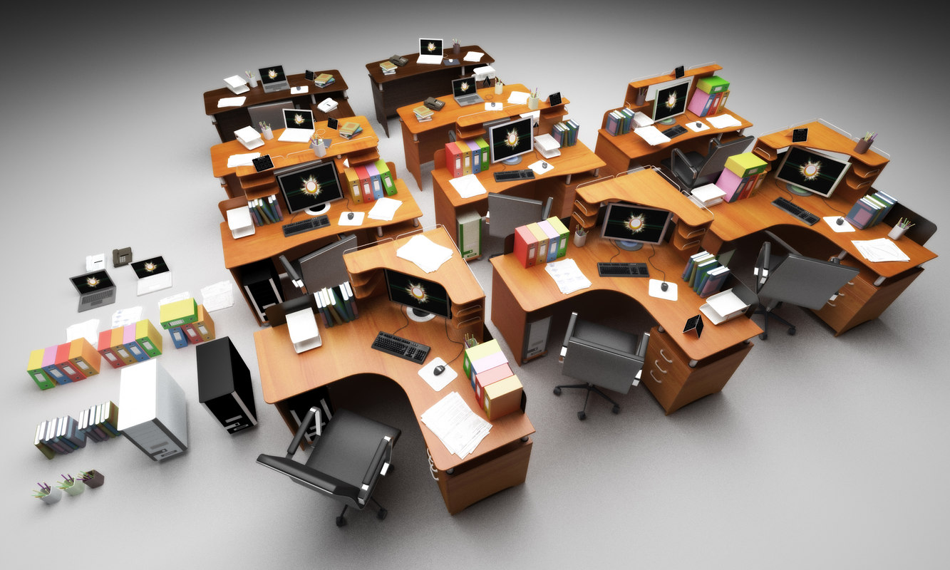 file desks 3d model
