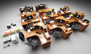 file desks 3d model