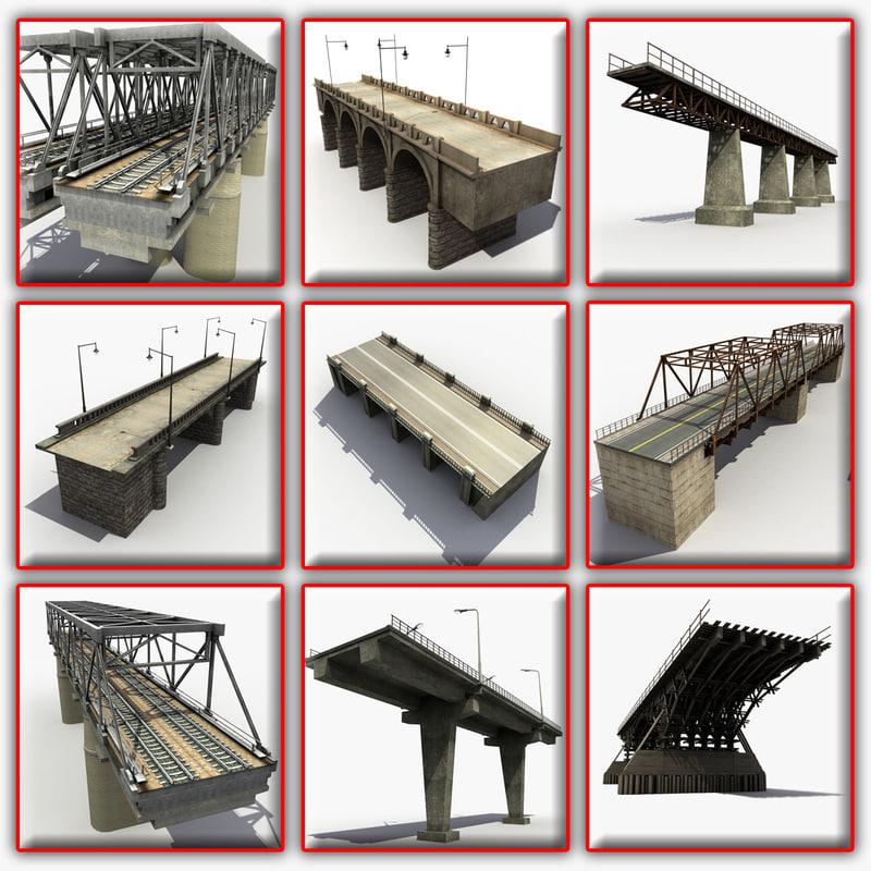3d model of bridges modeled