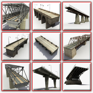 3d model of bridges modeled