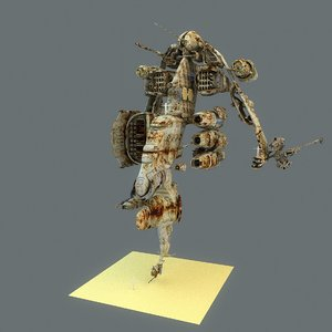 3d oxeeha gunship r iii model