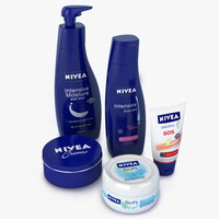 3d model of nivea set