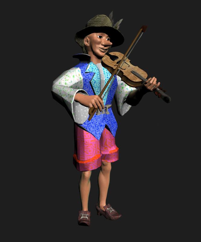 max cartoon character musician