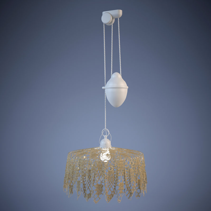 3d model of aldo bernardi hanging lamp
