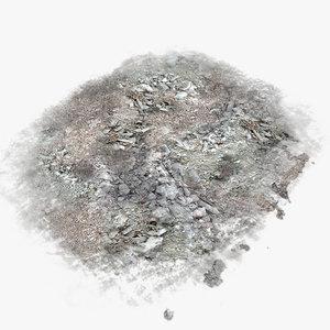 base plane debris 3d model