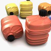 3d model plastic canister barrel