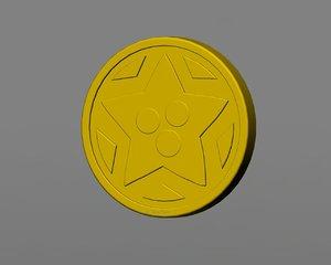 3d small medal 6 model