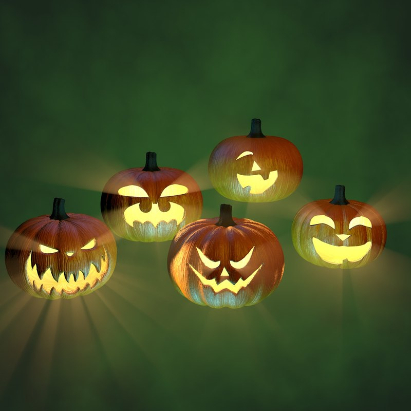 c4d halloween pumpkins