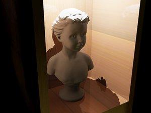 human head sculpture 3d model