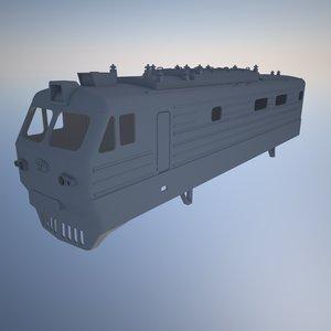 3d model russian electric locomotive vl-10k