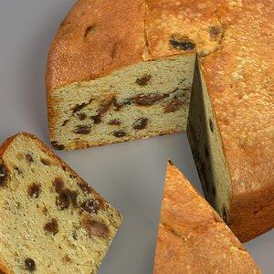 3d model sliced cake manor