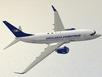 3d boeing 737-700 aerolineas argentinas