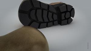 3d model shoe boots