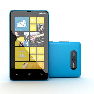 3d new nokia lumia blue