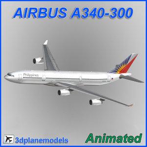 3d airbus a340-300