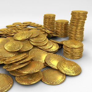 c4d gold coins
