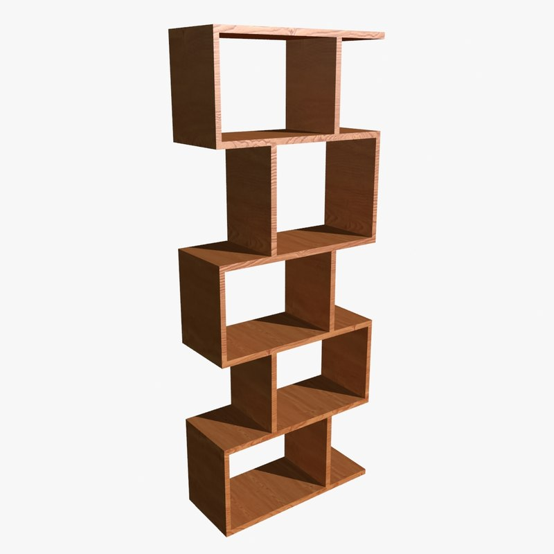 3d balance alcove shelving