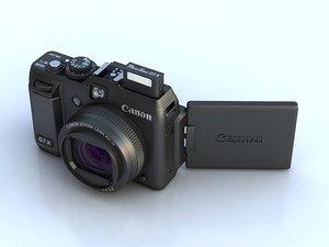 canon g1 x digital camera 3d model