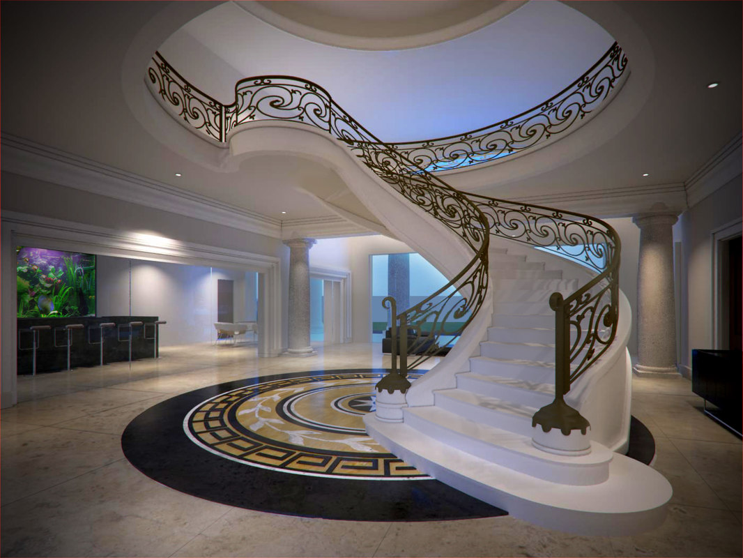 classical stair 3d model