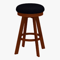 classic wood stool 3d 3ds