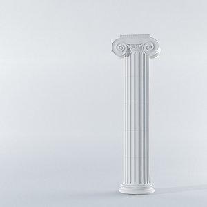 classic ionic column 3d model