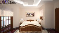 3d master bed model
