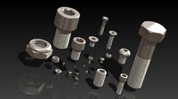 3d model metric fastener kit