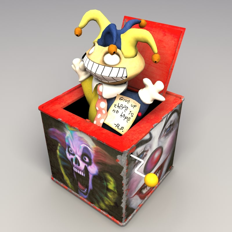 3d model creepy jack box