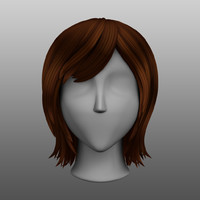 3d hair stylized female medium model