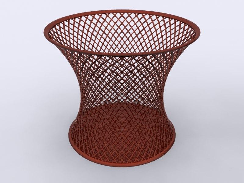 paper baskets office 3d model