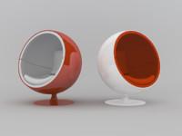modern ball chair obj