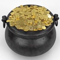 3ds pot gold coins