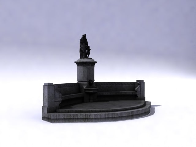 3d model ancient fountain