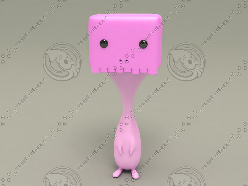 3d characters toy model