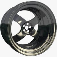 3d model racing rim sport stock