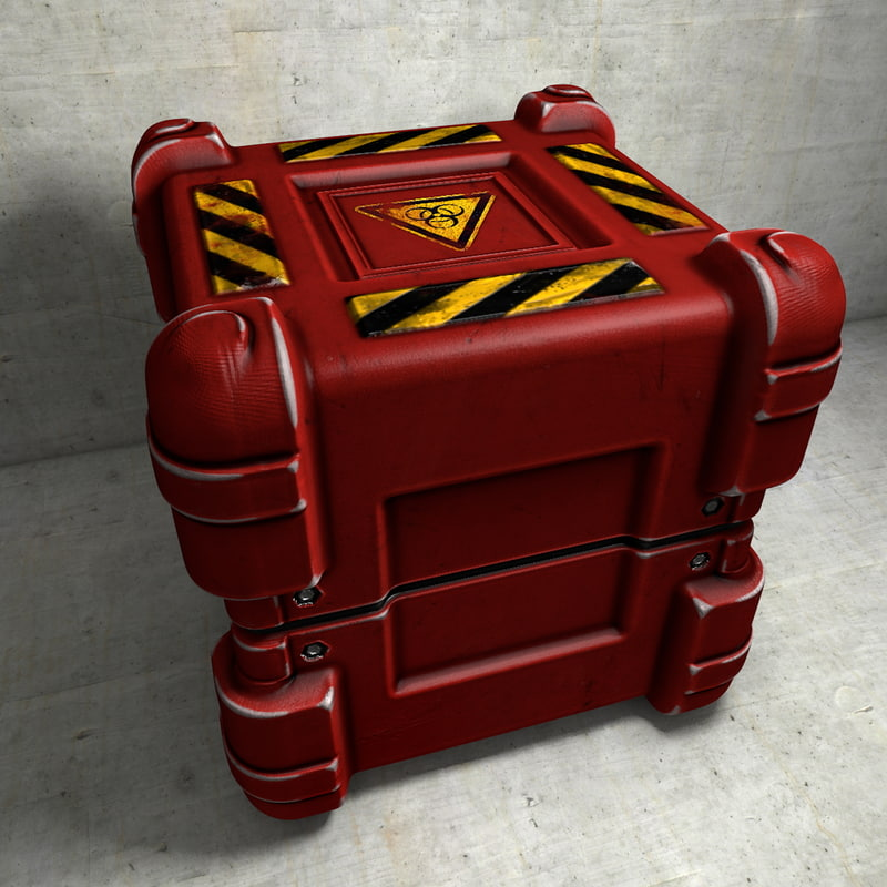 red container biohazard 3d model