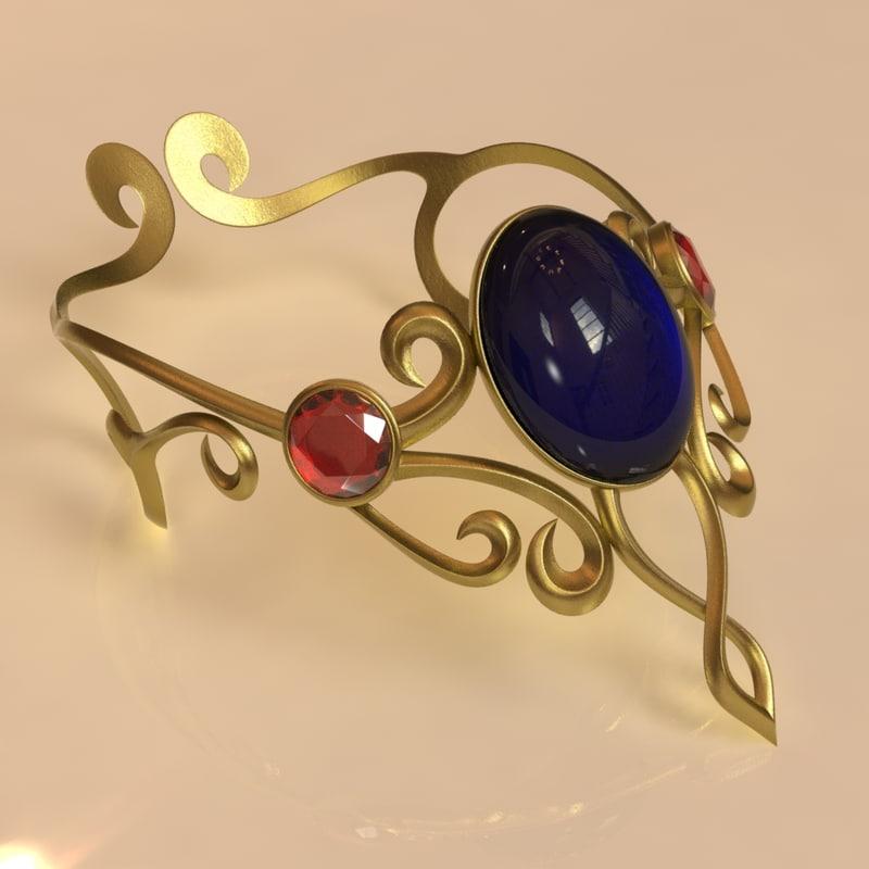 ornate elven bracelet 3d obj