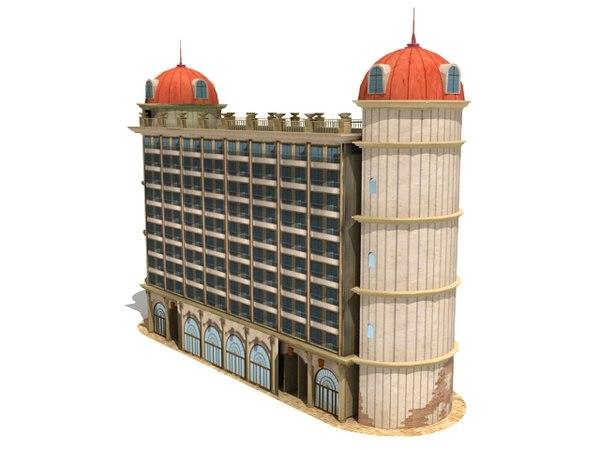 3d model royal hotel