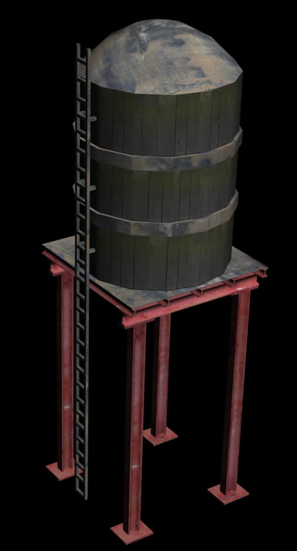 3d max new york water tank