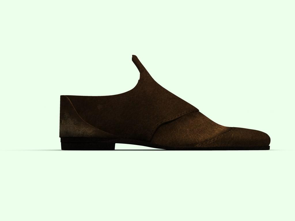 dress shoe 3d obj