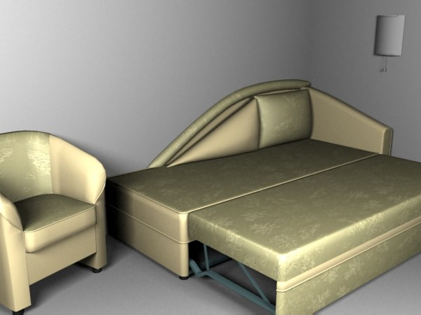 furniture sofa-bed 3d model